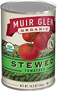 Muir Glen 罐装西红柿,炖煮西红柿,14.5盎司(约 411.1 克),罐装