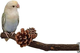 Creative Pine Cone 鸟栖息架玩具、鸟天然松木笼装饰、鹦鹉支架平台、木鸟锻炼玩具咀嚼屋,适用于长尾鹦鹉、玄凤鹦鹉、柯努斯、爱情鸟、Budgie
