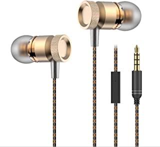 Shot Case 三星 Galaxy Note 8 金属耳机带麦克风免提套件入耳式通用耳机插孔金色