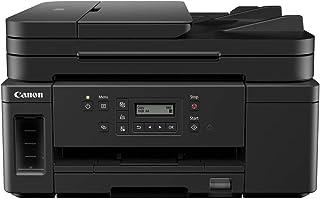 Canon 佳能 PIXMA GM4050 MegaTank 打印机可充填喷墨 S / W 多功能设备 DIN A4(黑白打印机,扫描仪,复印机,WLAN,USB,LAN,双面打印,大型油箱,低成本/页面)黑色