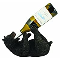 Foster & Rye by TWINE Frisky Bear Cub Cute, Giftable, Wine Gift for Enthusiast, Lover or Collector Wine Bottle Holder Rack