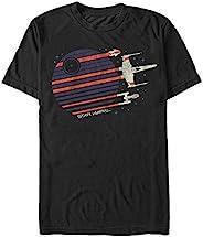 STAR WARS 男式 Rebel Flyby 图案 T 恤, 黑色//白色, Large