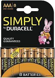 Duracell 金霸王 SIMPLY 电池 AAA(MN2400/LR03) 8节