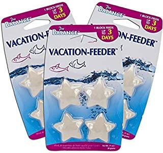 Penn Plax Pro Balance Vacation 鱼喂食器 - 慢速释放食物非常适合周末假期:1 块饲料,*多 3 天(每包 4 块) - 适用于淡水和海水罐 3 Pack (12 Feeder Blocks)