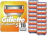 Gillette 吉列 Fusion5 男士剃须刀片 精准修整,每包包括16个补充刀片(适用于邮箱)