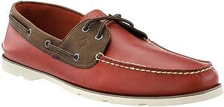 sperry top-sider 男式 leeward 条纹布船鞋