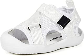 男婴女孩运动凉鞋轻质防滑橡胶鞋底沙滩水鞋夏季学步鞋