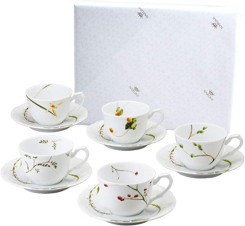 Narumi 鸣海 里花历系列 陶瓷咖啡杯、盘10件套 ¥273.24
