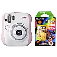 Fujifilm 富士 Instax Mini 26 + 拍立得彩虹胶卷套装—粉红/白色