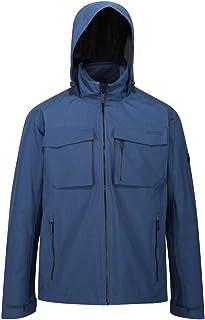 Regatta 男式 Shrigley 防水透气压胶接缝多口袋连帽 3 合 1 夹克夹克
