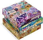 Magic Puzzle Company 魔术拼图3件装:快乐岛,神秘迷宫和阳光明媚的城市-1000片