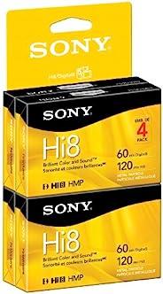 Sony 索尼 Hi8 摄像机 8mm 盒子 120 分钟(4 件装)(制造商已停产)