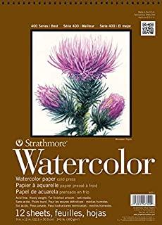 Strathmore 440-1 Strath W.Color 400 9X1212SHT 130 lbspirl,多色