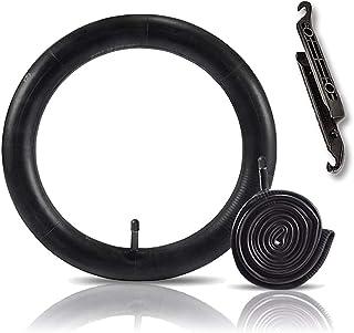 Hosali 2 件装 26 英寸(约 66.0 厘米)自行车管带 2 个轮胎杆,自行车内管替换件 32 毫米Schrader 阀适合 26 x 1.75 26 x 1.95 26 x 2.10 26 x 2.125 山地自行车公路车轮胎
