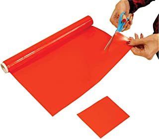 Aidapt 切成尺寸防滑擦拭干净耐热硅胶哑光 1000 x 200 毫米红色