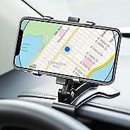 仪表板车载手机支架支架 360 度旋转带夹子多功能通用兼容 iPhone 12 11 Pro Max X XS XR 8 7 6 6s Plus Galaxy Moto 等
