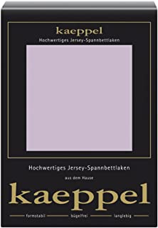 Kaeppel Single - Jersey 床垫套丁香, Mako Cotton 紫罗兰色 100 cm x 200 cm