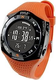 Pyle 运动系列 PSKIW25O 滑雪大师 V 专业滑雪手表 w/ 多 20 条滑雪记录,天气预报,高度计,气压计,数字指南针,温度计(橙色)