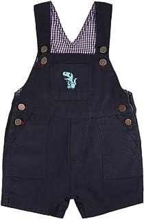 Baby Boy Overalls 帆布短裤 - 可调节肩带 - 适合婴幼儿的衣服