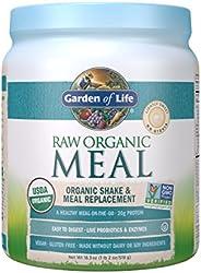 Garden of Life 生命花園代餐 - 植物蛋白質粉,巧克力口味,微甜,素食產品,無麩質,約519克。