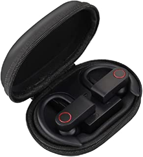手机配件 耳机和耳机LIHAO,JHO-A9 TWS无线挂耳式蓝牙耳机带充电+收纳袋 拉链袋 支持语音控制(黑色)(颜色:黑色)