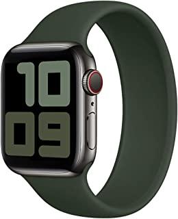 Strawberry Apple Pie 弹性单环表带兼容 Apple Watch 表带 38 毫米 40 毫米 42 毫米 44 毫米 无扣或搭扣运动弹性硅胶女士男士腕带 IWatch 系列 6/SE/5/4/3/2/1