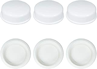 密封盖兼容宽口系列奶瓶 Avent 天然聚丙烯奶瓶和 Nenesupply 宽口奶瓶存储瓶盖替换新安怡天然奶瓶密封环和密封盘