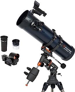 Celestron AstroMaster 130EQ 牛顿望远镜-初学者反射望远镜-全镀膜玻璃光学元件-高度可调节的三脚架-额外的天文软件包