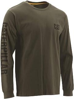 Caterpillar 男式商标横幅长袖 T 恤