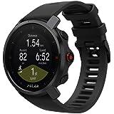 Polar Grit X 耐用户外手表,带 GPS、指南针、高度计 耐用 适合远足,黑色,M-L