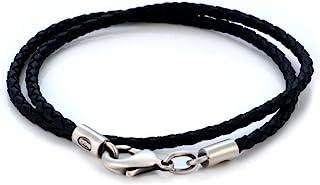 Bico 3mm(0.12 英寸)黑色编织项链(L13 黑色)部落冲浪珠宝
