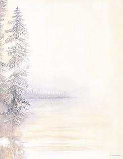 优质纸张! Morning Mist Letterhead,80 支,21.59x27.94 厘米
