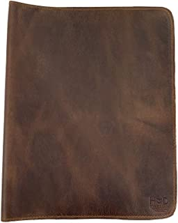 Hide & Drink 质朴的皮革日记封面(8.5 x 11英寸,约21.59 x 27.94厘米),可重新填充,Moleskine Cahier XXL,手工制作 - 波旁棕色