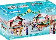 PLAYMOBIL DreamWorks Spirit 70395 Miradero圣诞节,适合4岁以上儿童