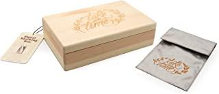 Suck UK 信号屏蔽袋和装饰木盒 | 钥匙信号屏蔽器 | RFID 袋 | WiFi 屏蔽器 | 信号屏蔽袋 | 超时袋 | 信号屏蔽钥匙袋和盒子 | EMF 屏蔽面料