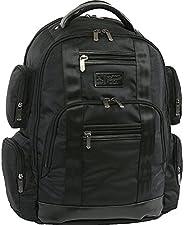 原创 PENGUIN Peterson 笔记本电脑背包适合大多数 15 英寸笔记本电脑和笔记本电脑背包 黑色 均码