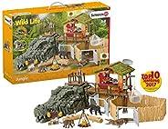 SCHLEICH 鳄鱼丛林动物69件拼插玩具,适合3-8岁