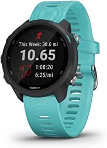 Garmin Forerunner 245 智能运动腕表,音乐版,具有音乐和高级动态功能的GPS智能手表,浅绿色