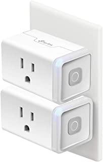 Kasa Smart Plug HS103P2 Wi-Fi 插座,可与Alexa,Echo和Google Home&IFTTT一起使用,无需集线器,远程控制,15 Amp,UL认证,2件装