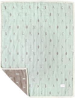 [10mois] 美利奴羊毛×棉 蓬松柔软的纱布(6层纱布)被罩 薄荷绿 M码 90×110厘米 18251002