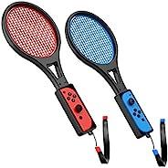 TalkWorks 任天堂 Switch 网球拍(2 只装)| Joy Con Controller Grip 运动游戏配件适用于马里奥网球行动