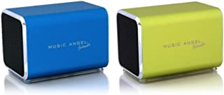 Music Angel Friendz 通用便携式立体声充电扬声器,适用于 iPhone/iPad/iPod/MP3 播放器/PC/MAC - 父母 ASINFT104595 Twin Pack