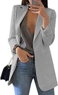 女式长袖纯色翻领大衣女士商务西装开衫夹克西装西装上衣