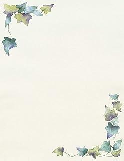 优质纸张! 蜂巢字母,80 支,21.59 cm x 27.94 cm (2014362) Painted Border 80份