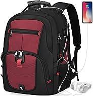 笔记本电脑背包 43.18 厘米 大学学校商务旅行背包 男式 黑色