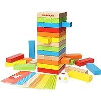 特宝儿 叠叠乐积木抽抽乐积木木制层层叠高积木大号互动幼儿益智早教玩具8153