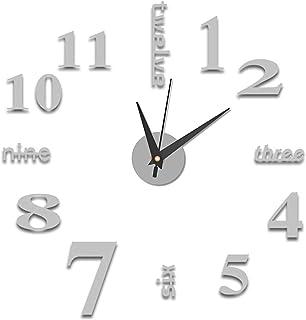 SH-RuiDu 新款大型挂钟现代亚克力镜面贴纸大数字手表 DIY 装饰