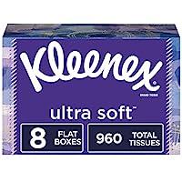 Kleenex 舒洁 超柔软面巾纸,8 个长方形纸盒,每盒 120 张纸(共 960 张纸)