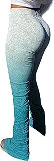 SeNight 女式休闲裤紧身时尚休闲长抽绳长裤