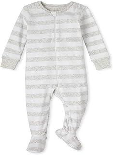 The Children's Place 男孩中性款婴儿和幼儿配套家庭条纹舒适棉质连体睡衣